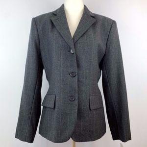 🆕🏷 NWT Lauren RL Wool Pinstripe Blazer Jacket